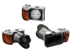 Hasselblad Lunar mirrorless camera, front and back views