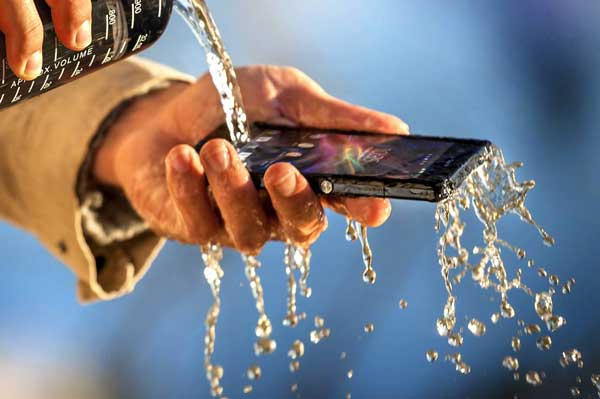 Sony Xperia Z smartphone water resistant