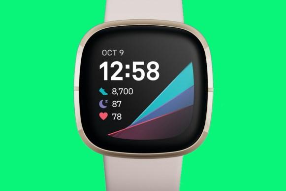 Fitbit Sense white front view