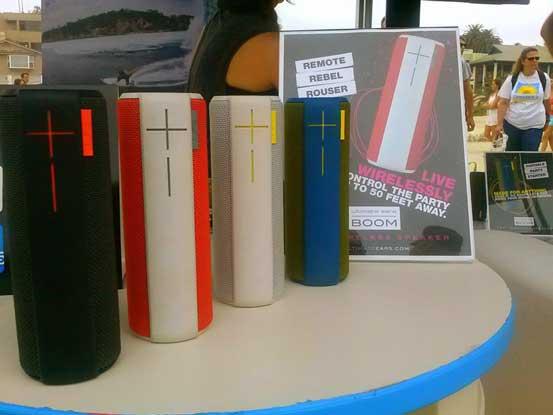 UE Boom wireless speaker, more colours in the range