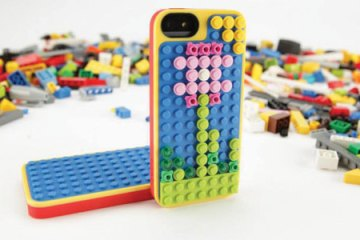 Lego Belkin iPhone case, with bricks