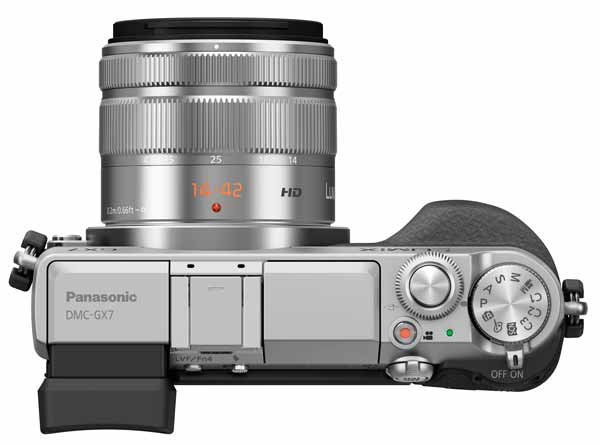 Panasonic Lumix GX7 top view
