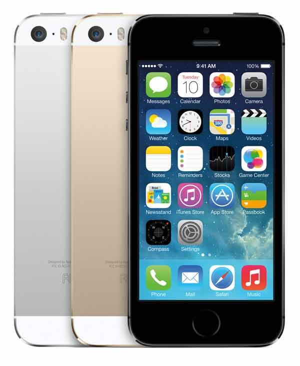iPhone 5S colour range