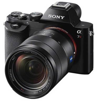 Sony Alpha 7 camera, front angle