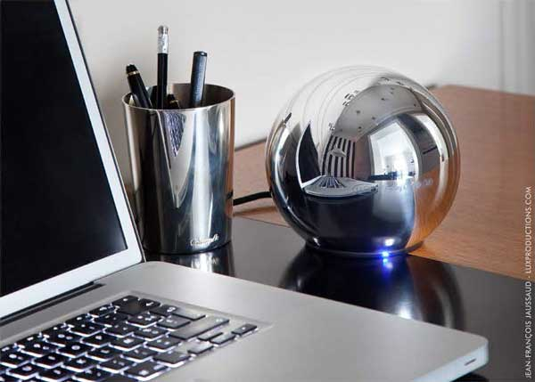 LaCie Christofle Sphere external hard drive