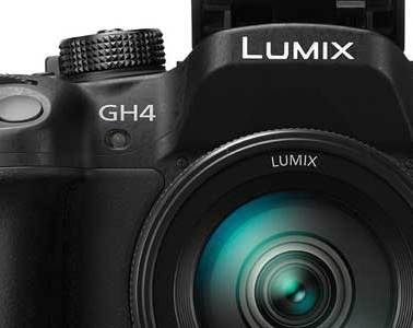 Panasonic Lumix GH4 camera, front view, main