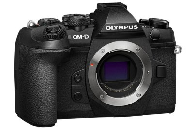 Olympus OM-D E-M1 Mark II body only, angle view