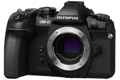 Olympus OM-D E-M1 Mark II body only, front angle view