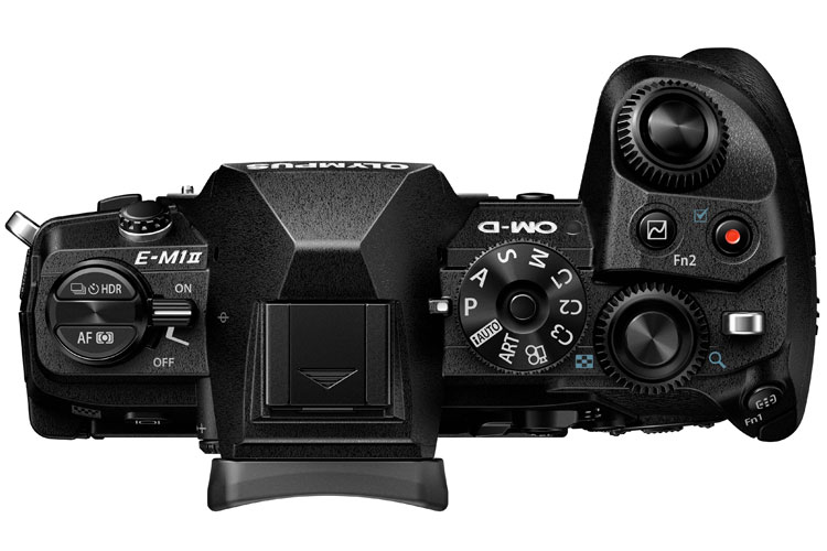 Olympus OM-D E-M1 Mark II top view