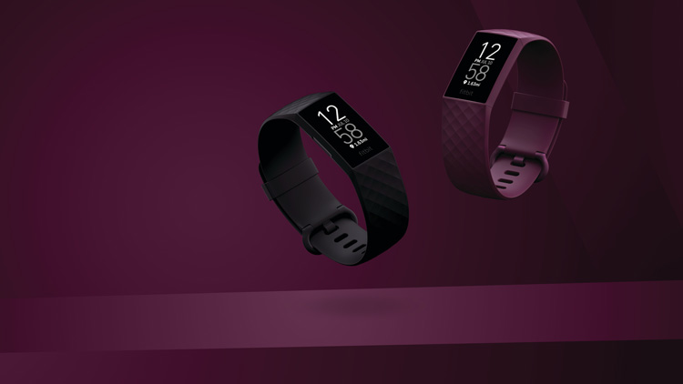 Fitbit Charge 4 black and rosewood colours