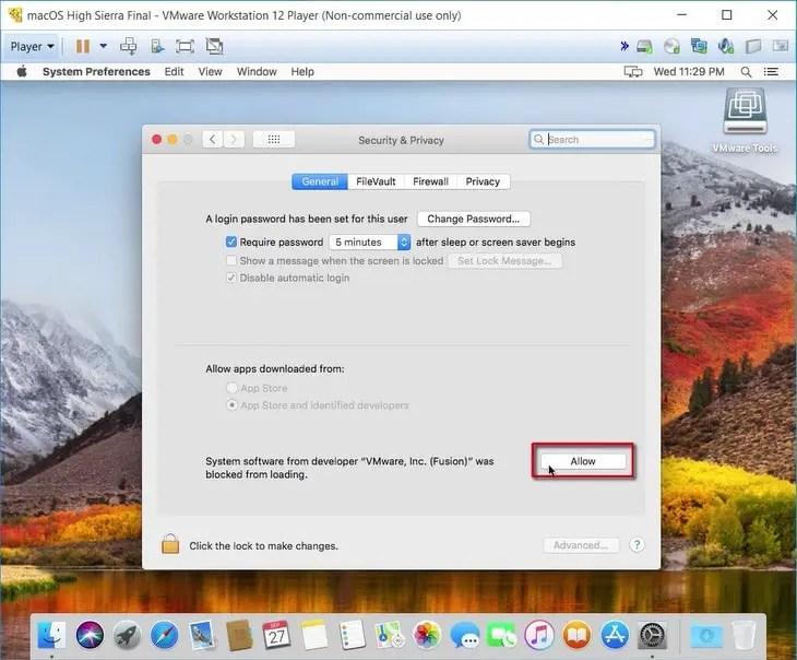 allow vmware extension