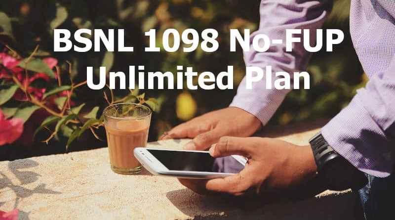 BSNL 1098 Plan details