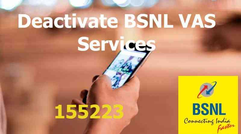 Deactivate BSNL VAS Services