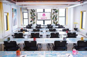 MEET on Bowery Classroom Set up with mugs