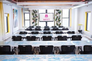 MEET on Bowery Classroom Style Set up