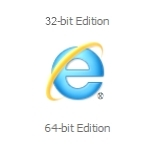 IE 32 bit will not open, 64 bit will