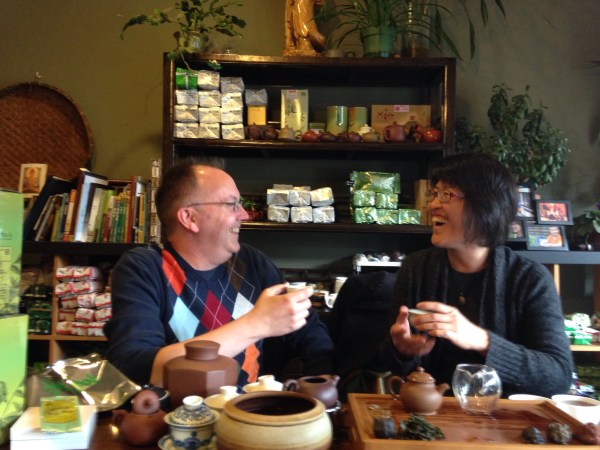 Michael and Shiuwen Tai of Floating Leaves Tea