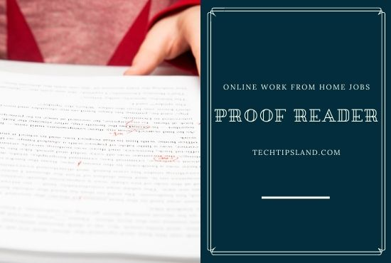 proofreader online work from home jobs