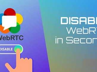 How to turn off WebRTC