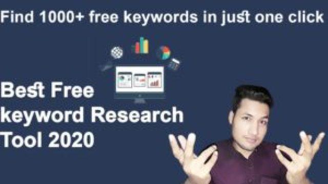 best free keyword research tool || best keyword generator