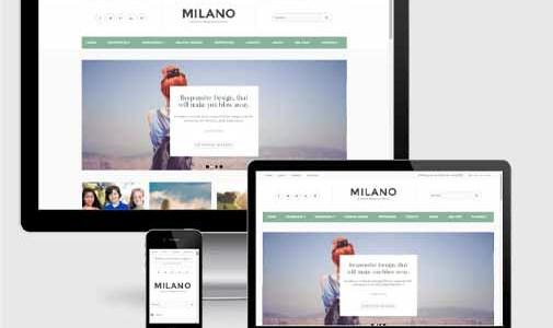 Milano Responsive Premium Blogger Template SEO Mobile friendly