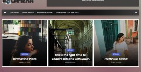 Camera Blogger Template Free Download