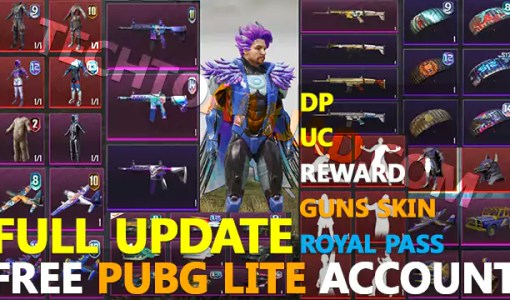 [October 2021] Free PUBG Lite Account With ID and Password Through Facebook, Gmail and Twitter