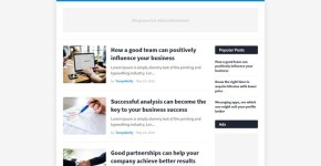 MiniFast Blogger Template Free Download