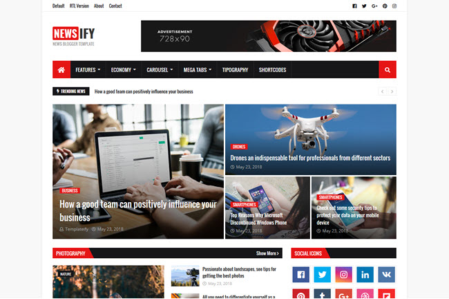 Newsify Blogger Template Free Download