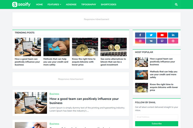 Seoify Blogger Template Free Download