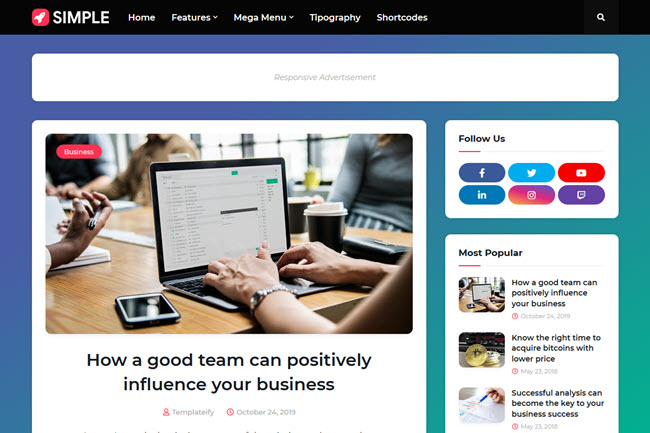 Simple Responsive Blogger Template Free Download