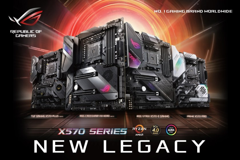 Photos of the ASUS AMD X570 Series Motherboards