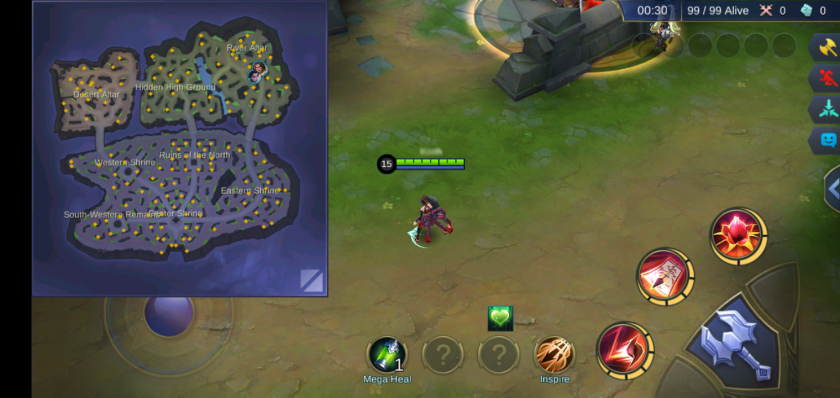 A screenshot from the game mobile legends. a photo of Survival mode arena and game map