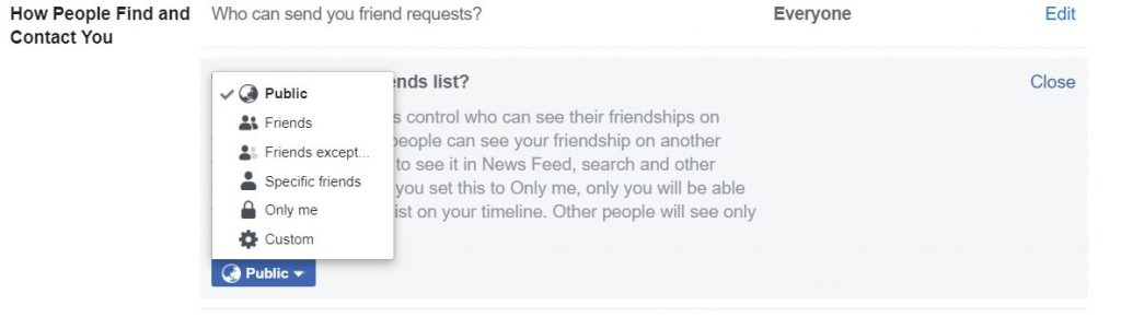 "A screenshot consists mostly of text from New Facebook. This photo is for the ""How to Hide Friends in Facebook"" blog in TechToGraphy."