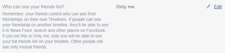 "A screenshot from Classic Facebook, highlighting the words ""Only Me."" This photo is for the ""How to Hide Friends in Facebook"" blog in TechToGraphy."
