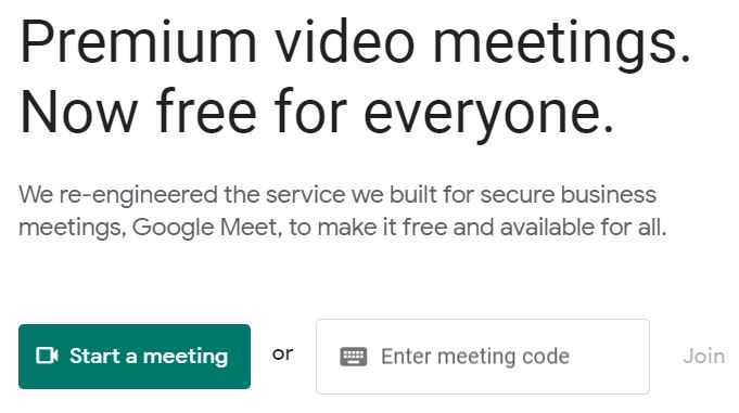 """A screenshot of the Google Meet website for the """"How to Use Google Meet on Your Computer, Phone, or Tablet"""" blog post in the TechToGraphy website. The photo has a green Start Meeting icon on its lower left corner."""
