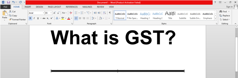 Using Borders to insert a line in MS Word