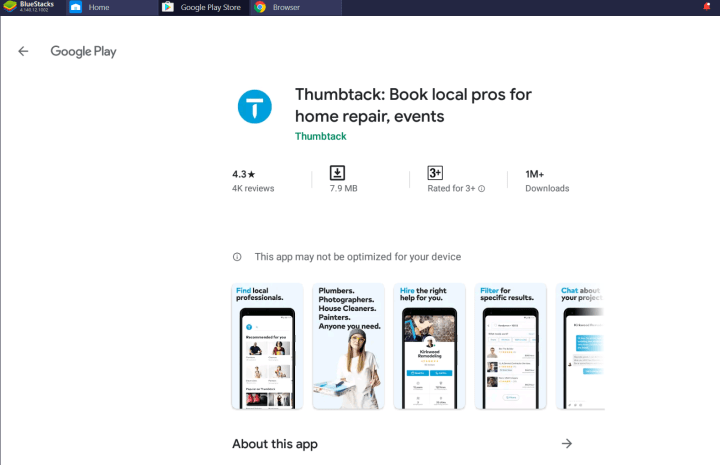 Thumbtack for PC Windows 10