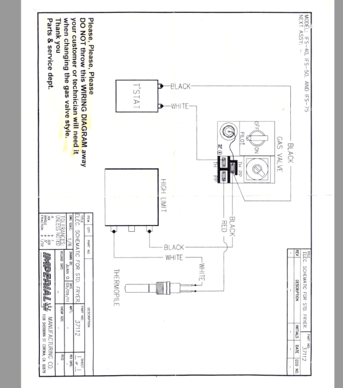 need wiring diagram for imperial ifs40 fryer  techtown