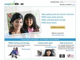HP snapfish india