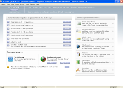ScreenShot of uCertify SCWCD Simulator