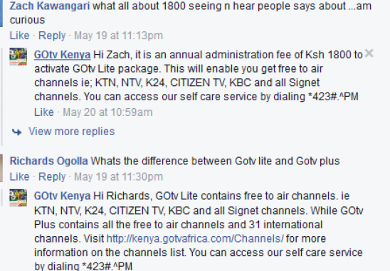 Is GOTV illegally charging its subscribers for free to air channels?