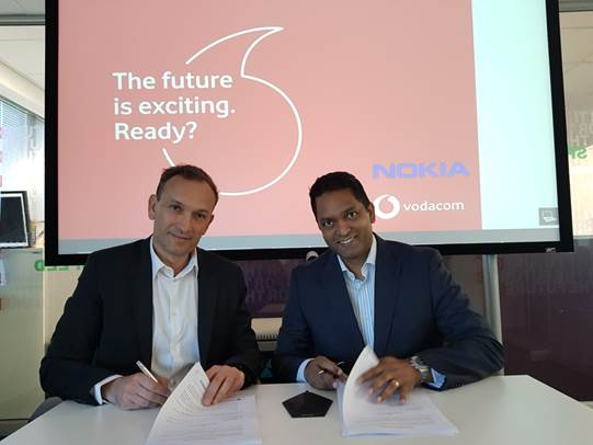 Nokia and Vodacom sign MoU to conduct 5G trials in South Africa