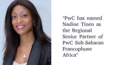 Photo of Nadine Tinen appointed to lead the Sub-Saharan Francophone Africa region for PwC France and Francophone Africa