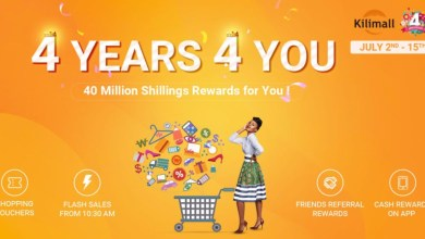 Photo of Kilimall 4th anniversary 2018 starts on 2nd July, lots of discounts and vouchers to give out.