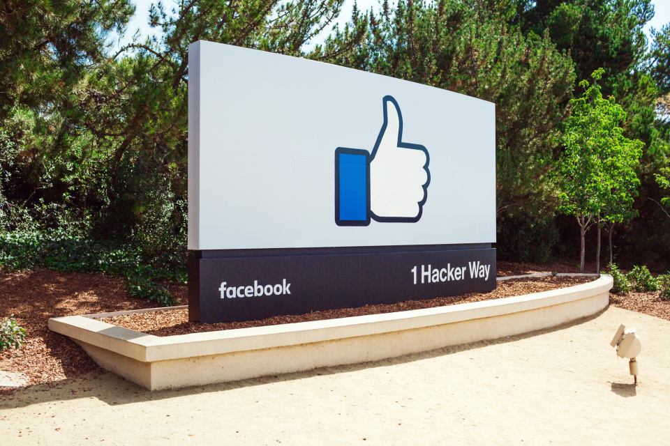 Facebook Headquarters Front Sign