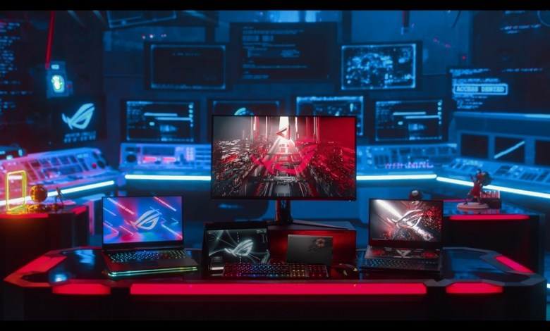 New ROG laptops and displays