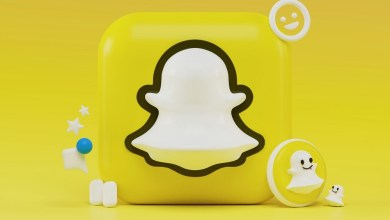 3D concept of Snapchat icon
