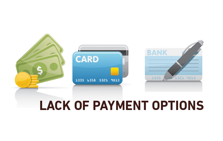 Wide range of Payment option in ecommece site