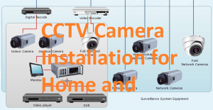 how to install CCTV camera for home and office with